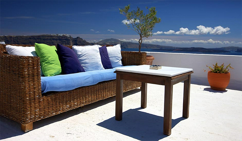 Outdoor Furniture and Cushions with Welt Cord