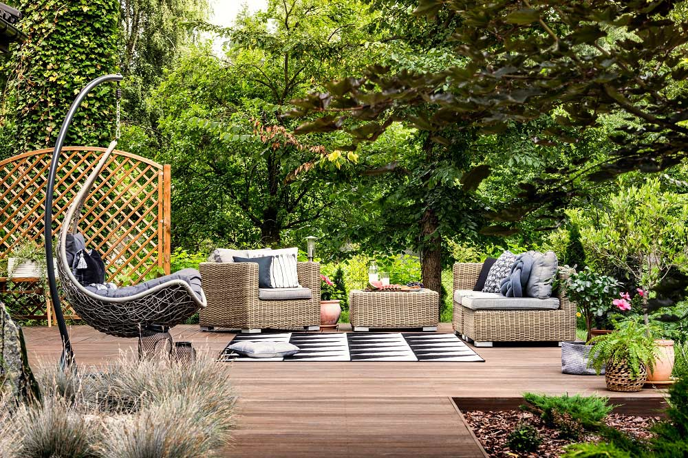 Outdoor Furniture with Foam Welt Cord